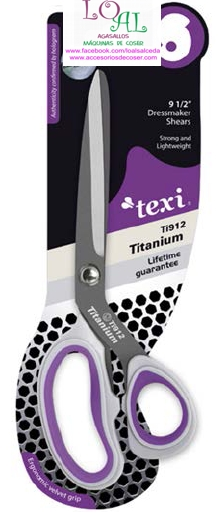 tijera de costura de titanio texi 24 cm de longitud