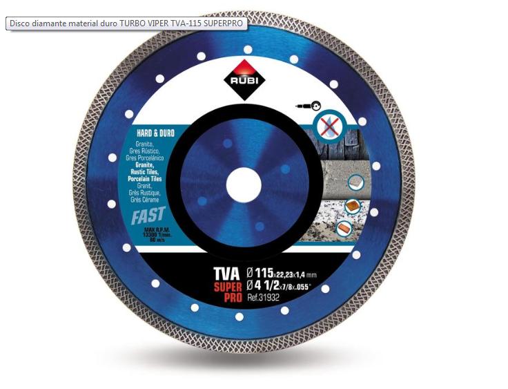 Rubi Disco Diamante TVA Super Pro