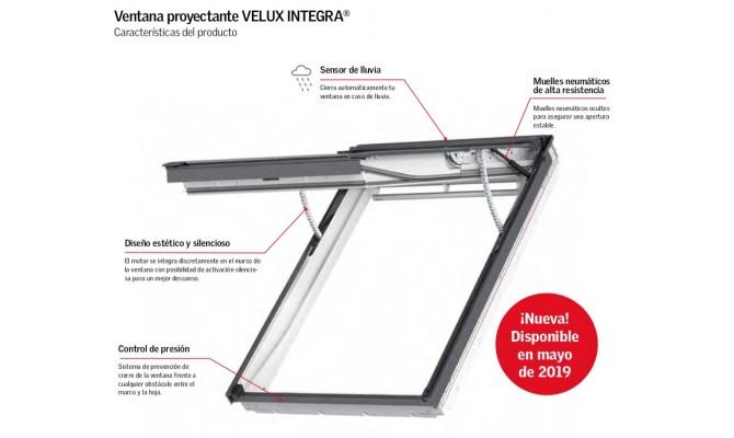 Velux Ventana Proyectante Íntegra Eléctrica Poliuretano Blanco