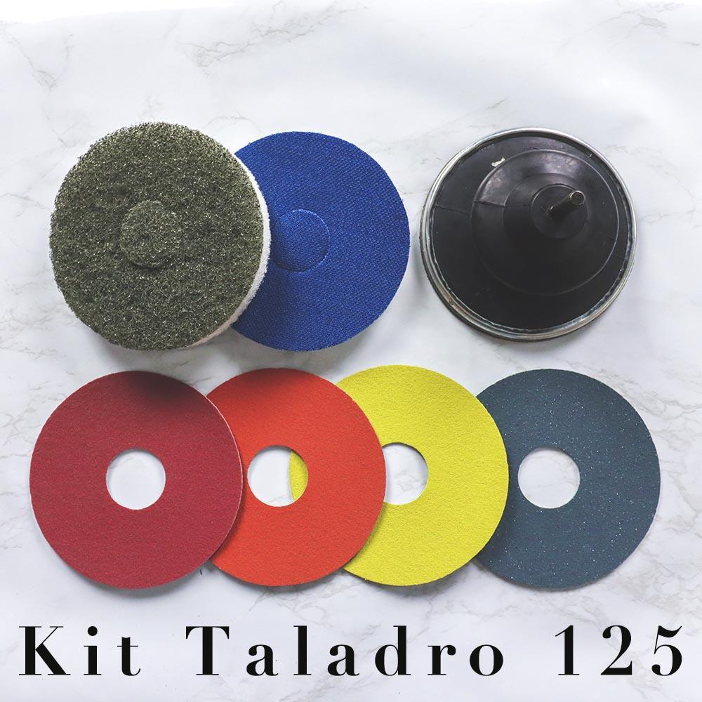 Kit Taladro 125 micropulido y abrillantado