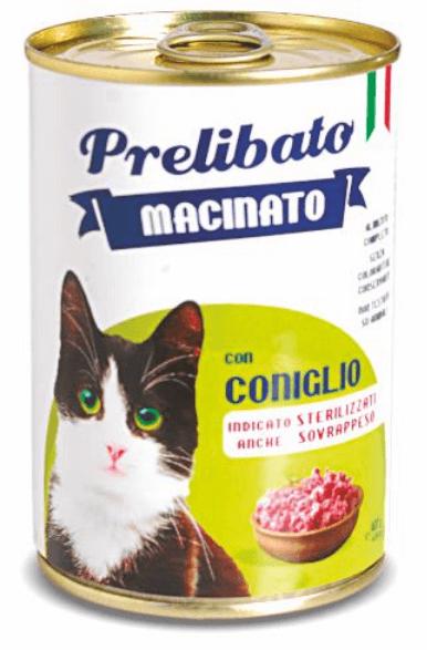 Prelibato Macinato Húmedo con carne en latas 400gr