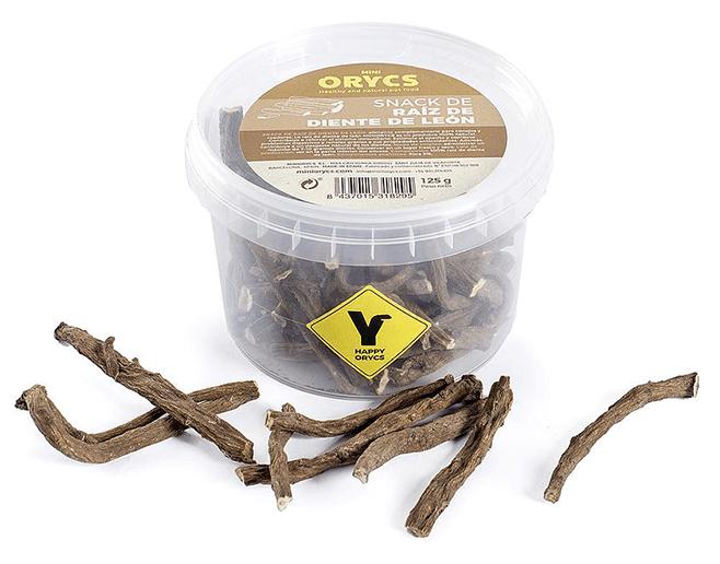 mini orycs snacks raiz diente de leon