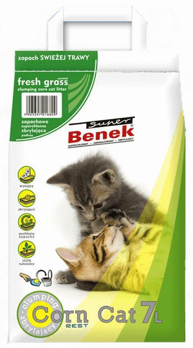 super benek Lecho Maiz Corn Cat Hierba fresca