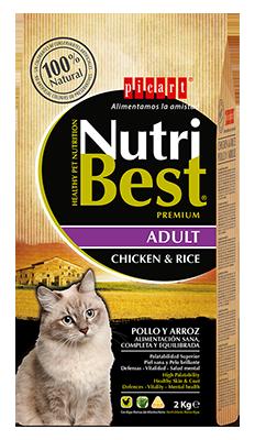 picart nutribest gato adulto pollo y arroz