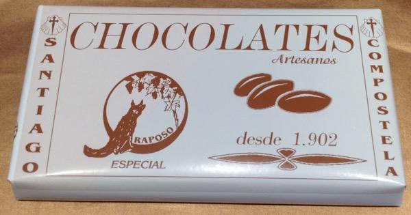 CHOCOLATES RAPOSO CHOCOLATE RAPOSO PURO ESPECIAL 350 G.