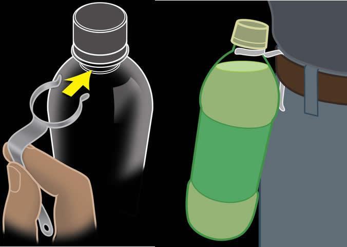 SAVANNAH Mosquetón sujeta botellas