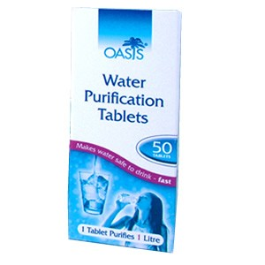 OASIS Pastillas potabilizadoras de agua