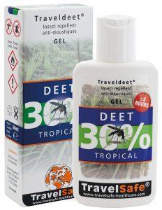 """TRAVEL SAFE Gel Repelente de Insectos """"Traveldeet 30% DEET"""""""