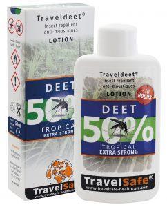"""TRAVEL SAFE Loción Repelente de Insectos """"Traveldeet 50% DEET"""""""