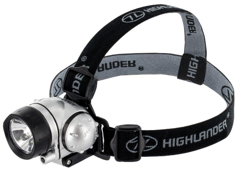 HIGHLANDER Linterna Frontal Rigel,8 Leds