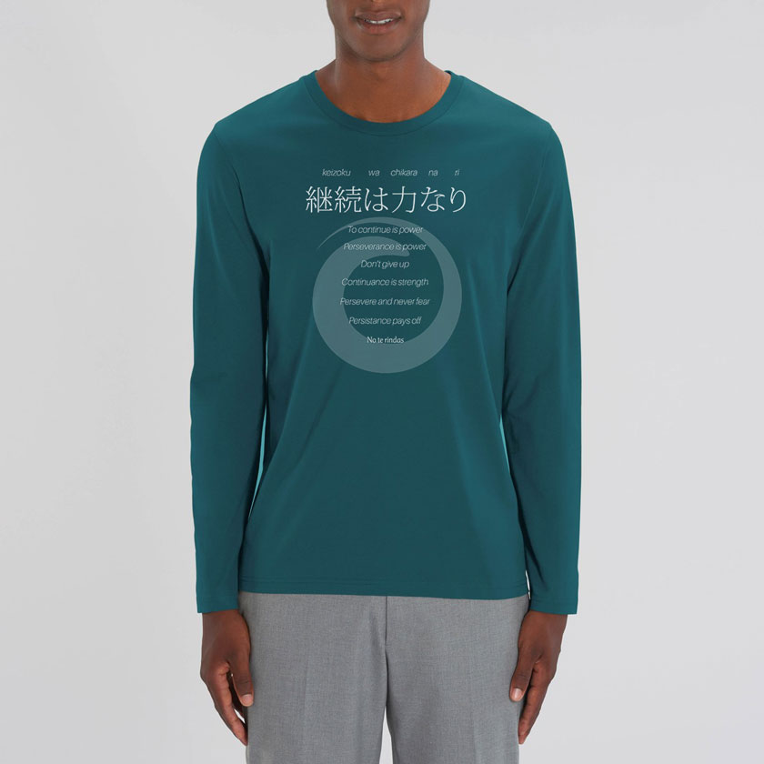 Perseverancia manga larga verde Orikami