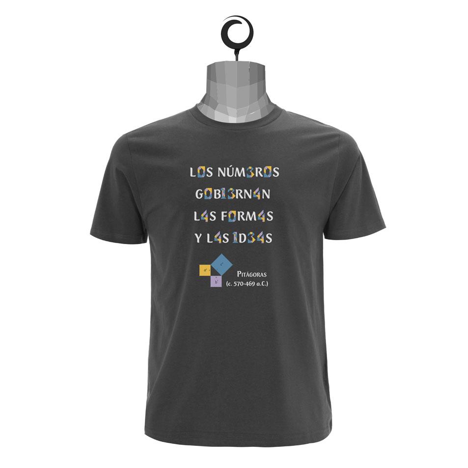 camiseta Pitágoras color gris oscuro