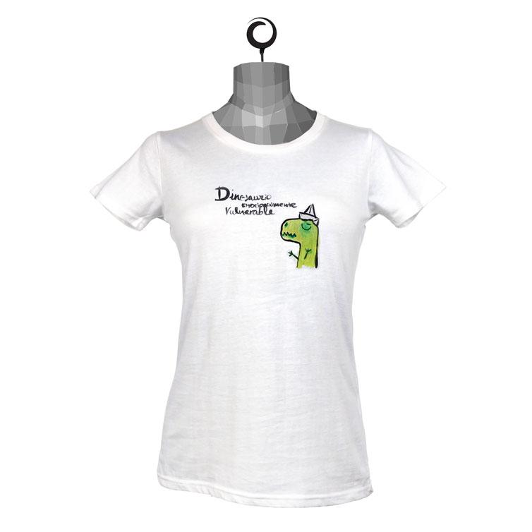 Camiseta entallada chica Orikami Dino