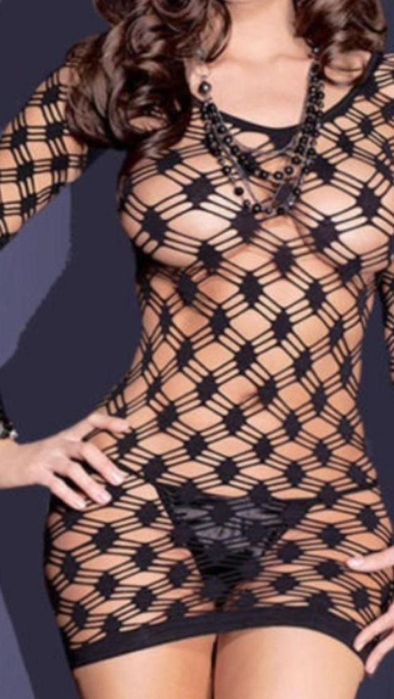 Vestido de redecilla