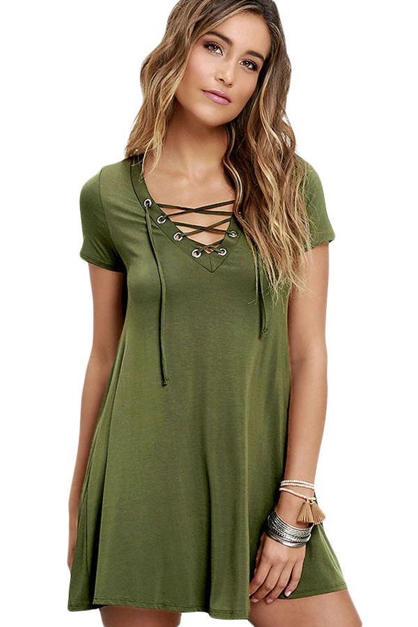 Vestido casual verde