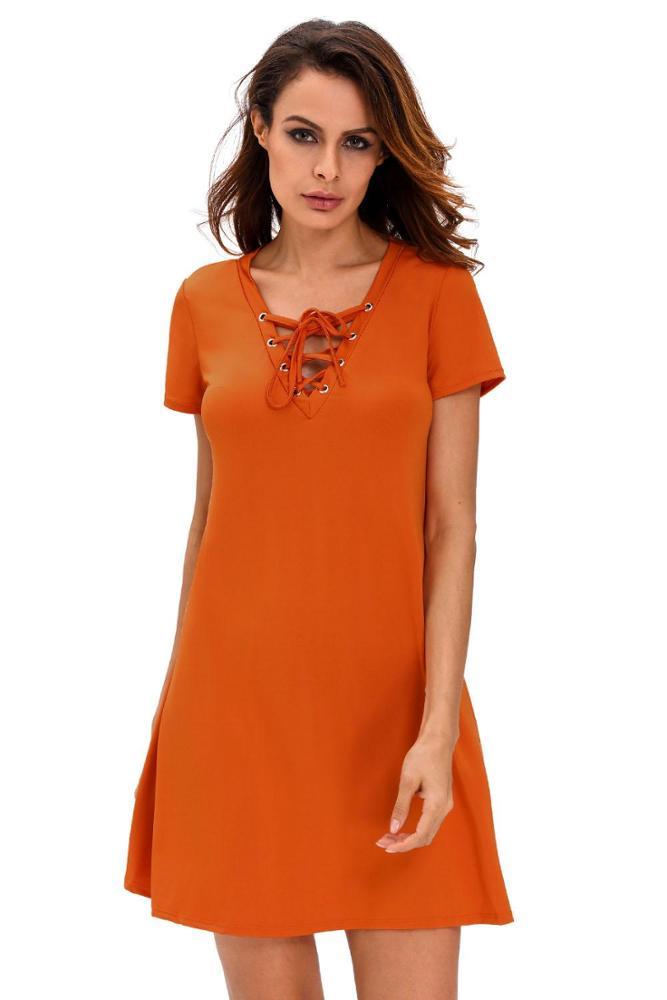 Vestido casual naranja