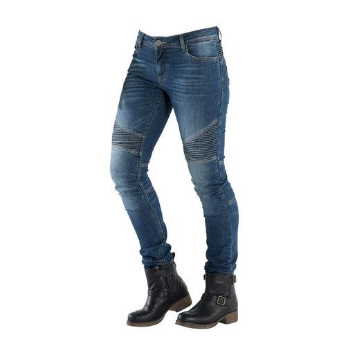 OVERLAP Jeans Mujer KEVLAR IMOLA CE SMALT + PROTECCIONES