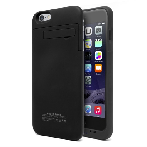 UNOTEC Funda Batería iPhone 6 Plus PowerCase Negra