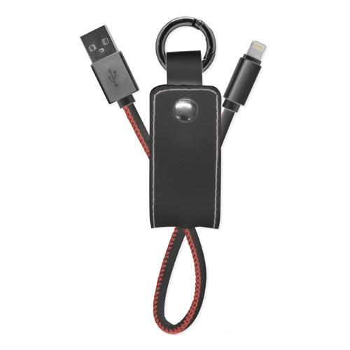 UNOTEC Llavero Cuero con Cable Lightning