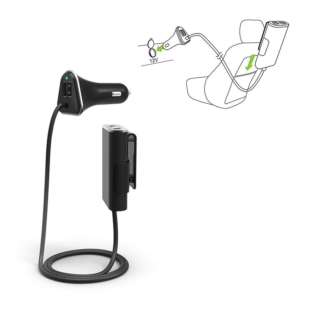 UNOTEC PowerCar Cargador 4xUSB para Coche
