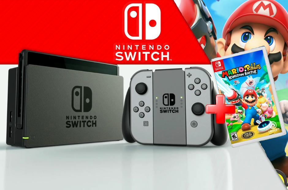 Nintendo Switch Videoconsola + Juego Mario Rabbids