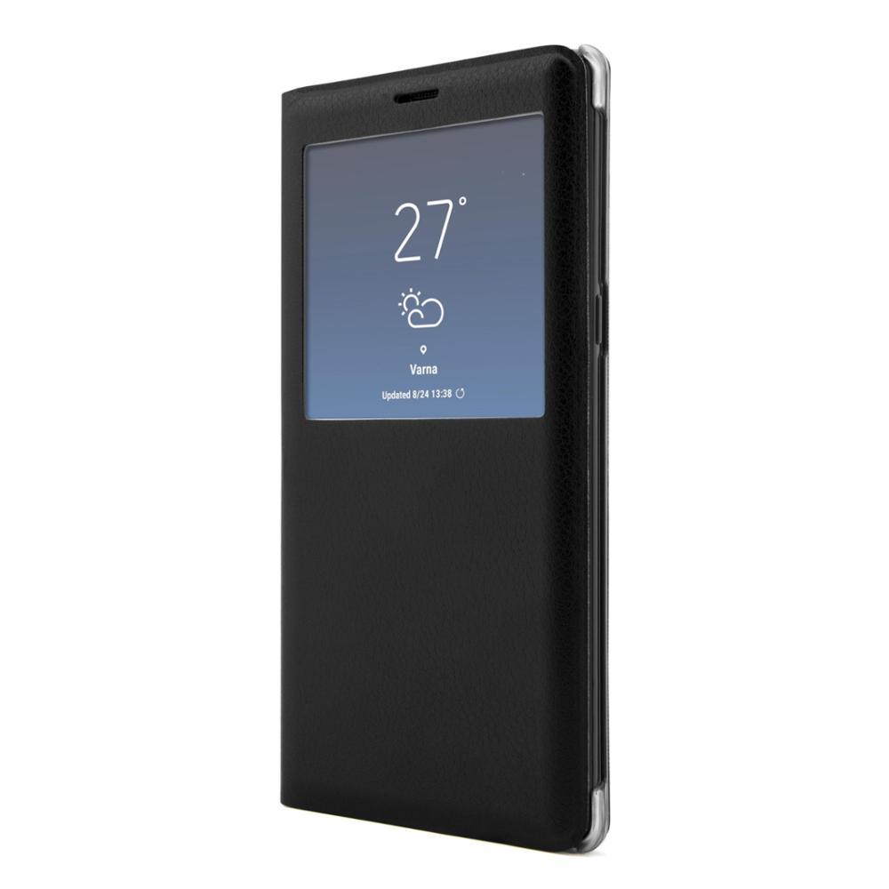 UNOTEC Funda Flip-S con Ventana para Galaxy Note 8