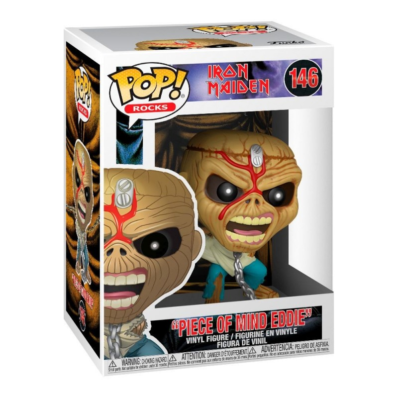 Funko Iron Maiden POP! Rocks Vinyl Figura Piece Of Mind (Skeleton Eddie) 9 cm