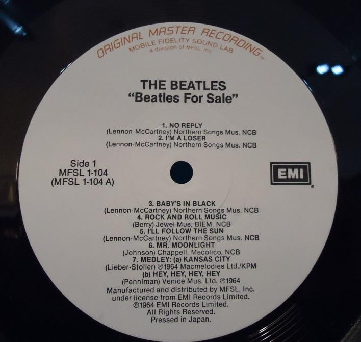 LP The Beatles – Beatles For Sale Mobile Fidelity Sound Lab Vinyl A SIDE EXC+ B SIDE NM Cover VG++