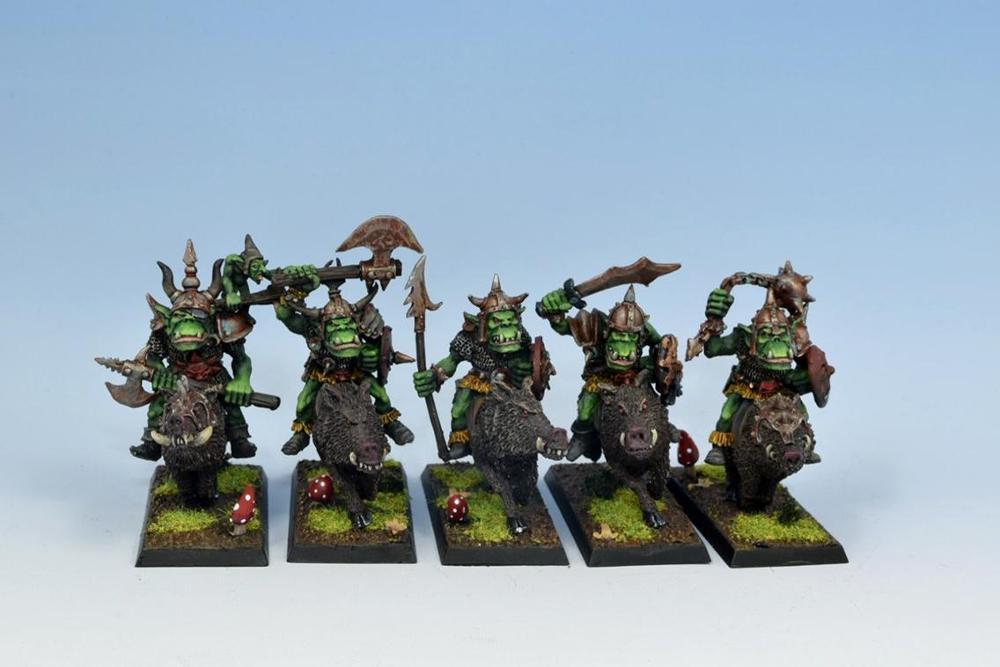 Orc boar riders unit