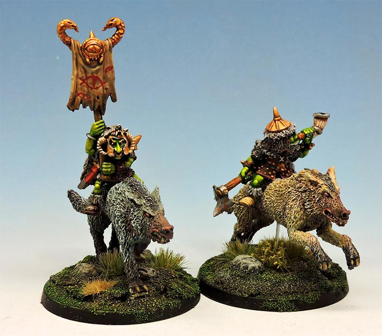 Goblin wolf riders command group