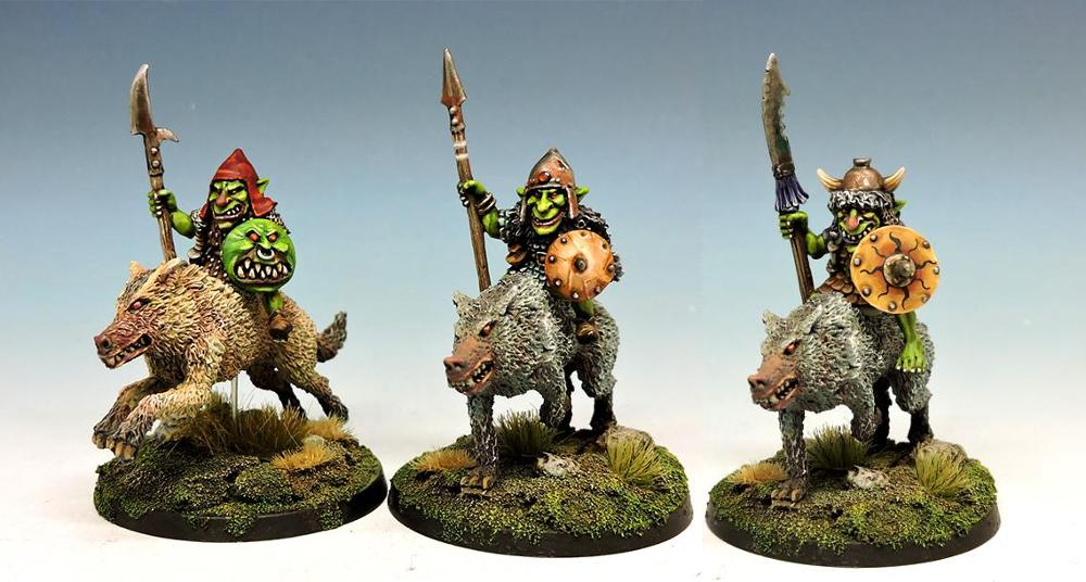 Goblin wolf riders with lance #3