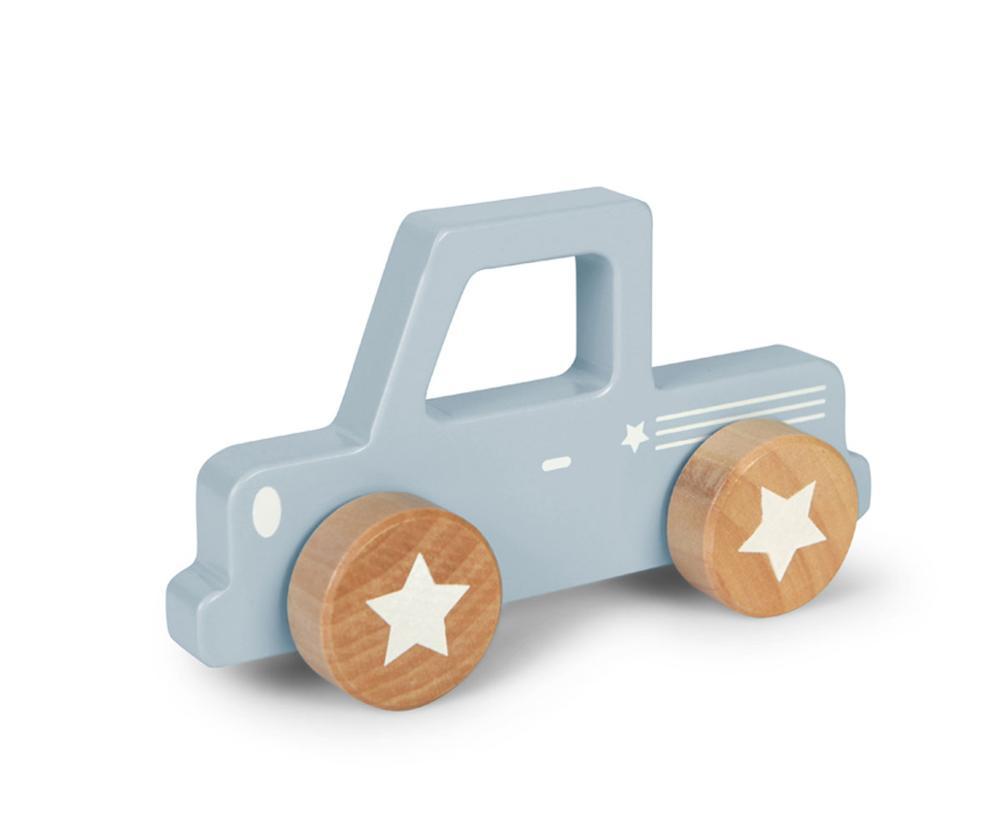 LITTLE DUTCH BackCar Pick Up Blue Wood