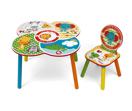 FISHER PRICE TABLE + 2 CHAIRS