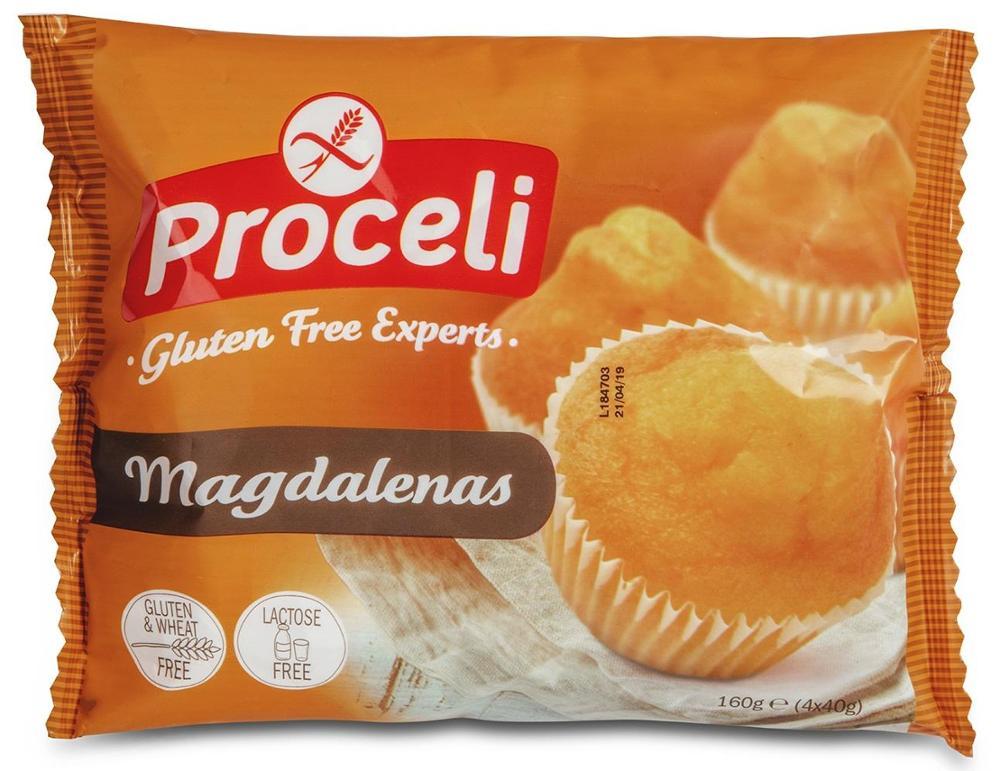 Magdalenas sin gluten | Proceli