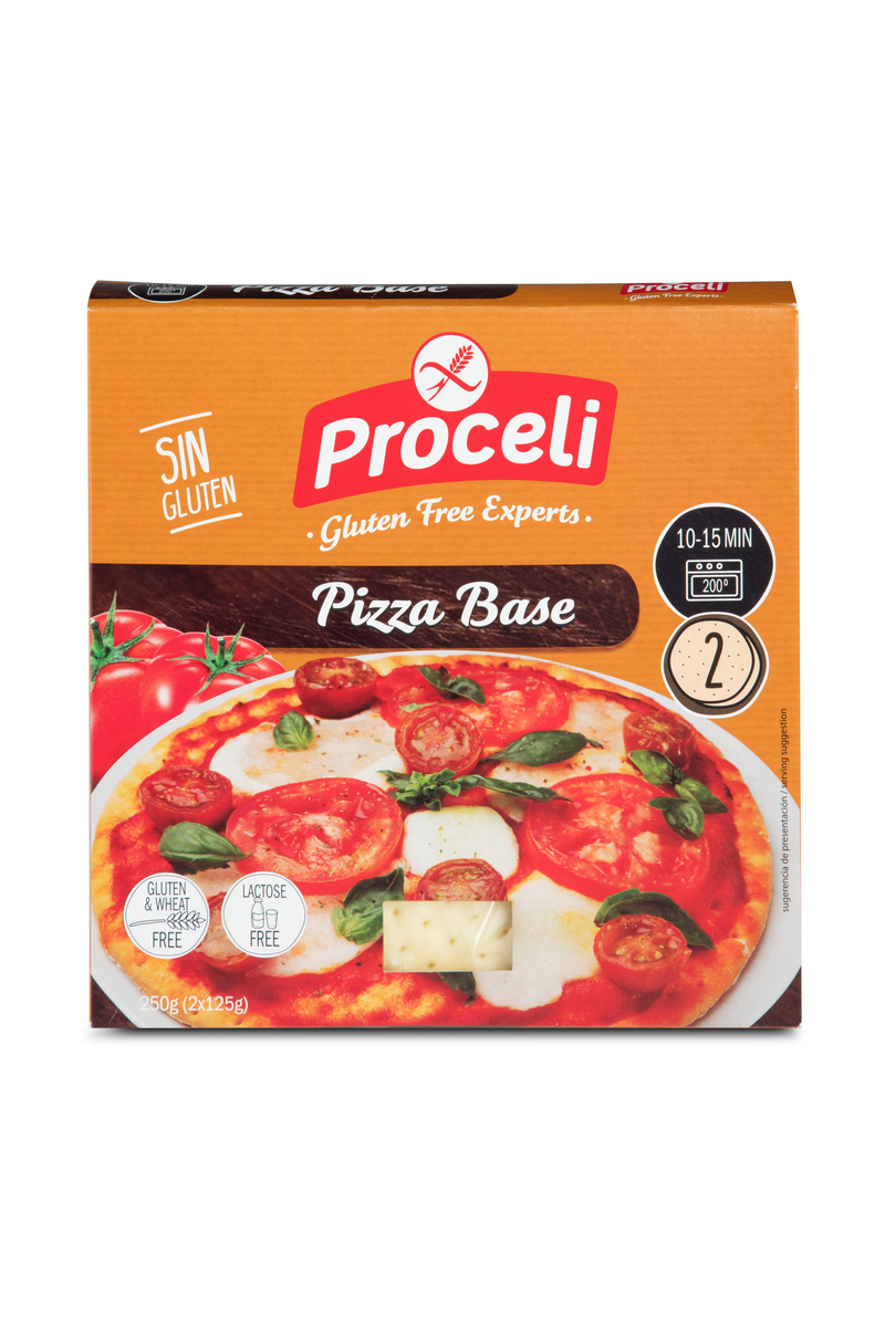 pizza sin gluten proceli