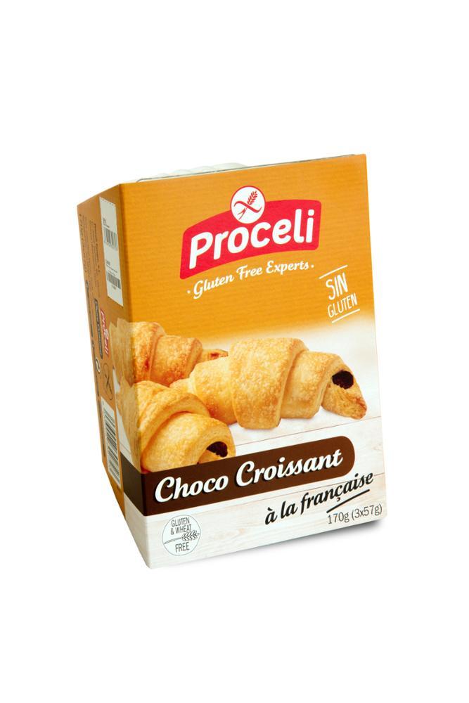 croissant de chocolate sin gluten proceli