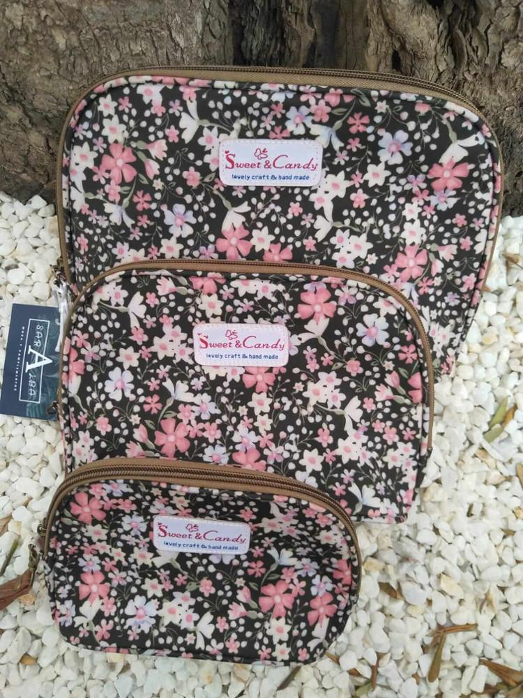 PACK 3 NECESERES FLORAL