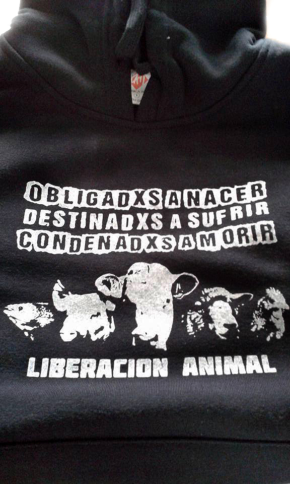 """Sudadera """"Liberación animal"""""""