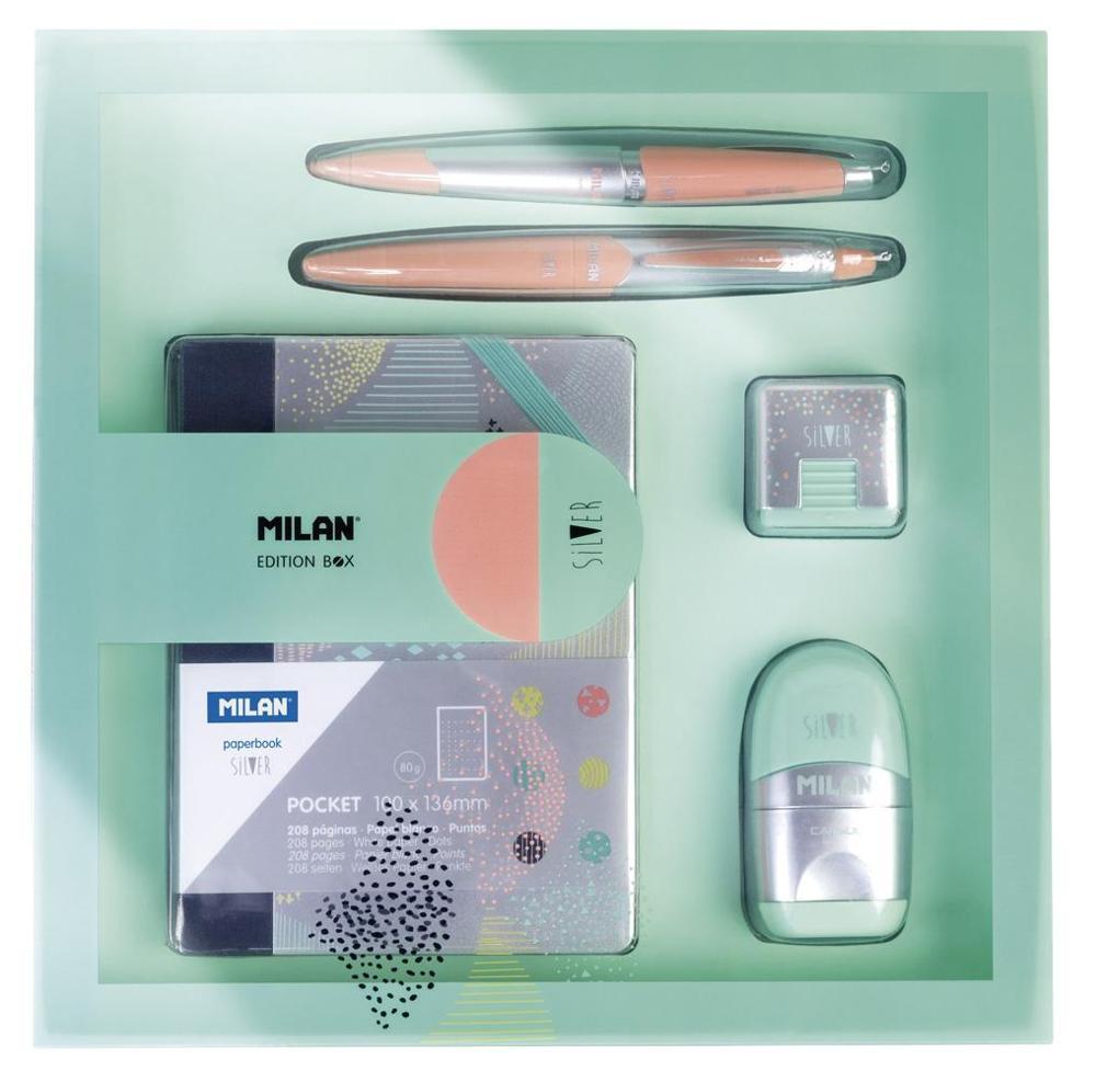 MILAN - Artículos de Papelería Caja Regalo Cuadrada Silver