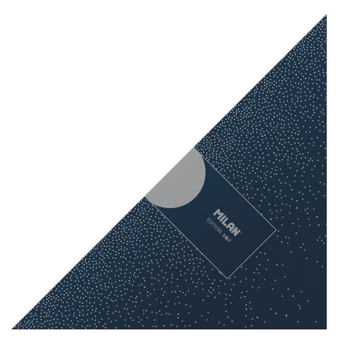 MILAN - Artículos de Papelería Caja Regalo Triangular Silver Azul