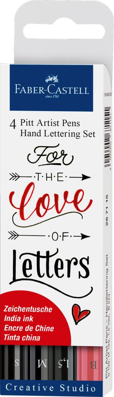 Faber-Castell 4 Pitt Artist Pens Hand Lettering Set