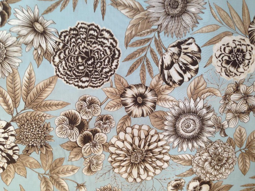 Algodón estampado Floral