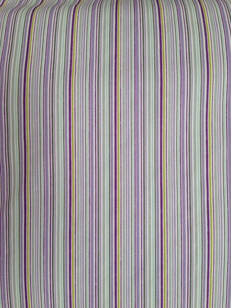 Popelín estampado Rayas violeta