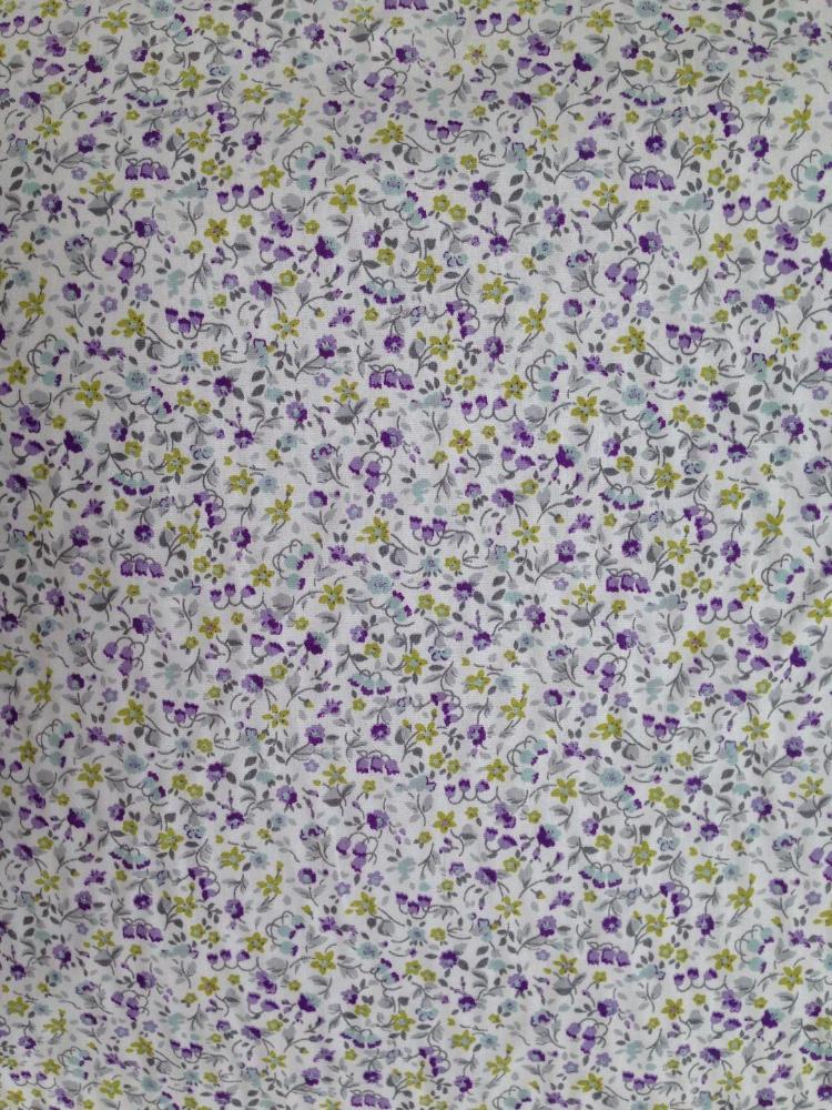 Popelín estampado Floral violeta