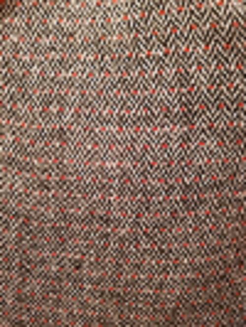 Espiga lana Negra con mota roja