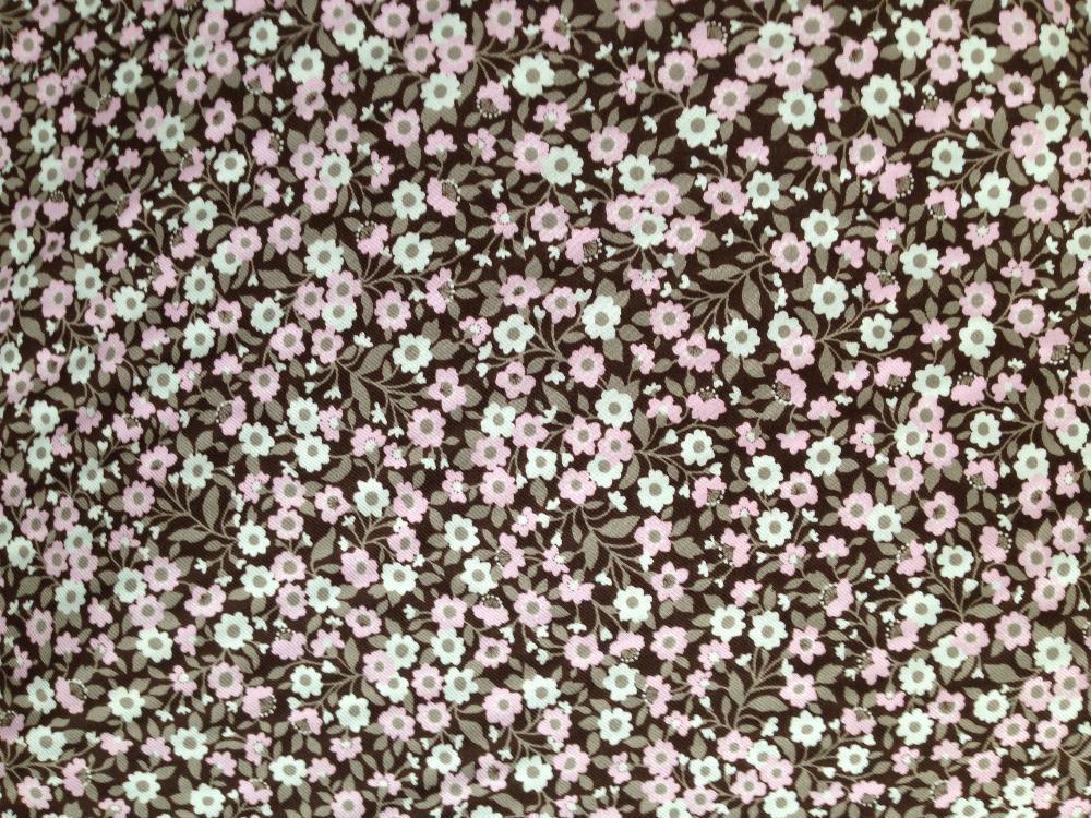 Viyela estampada flor media