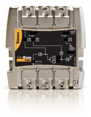 Televes Central Amplificadora Minikom 3e/1s FM-V-U