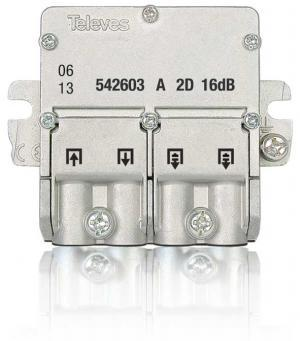 Televes Mini-Derivador  5...2400MHz 16db EasyF 2D 542603