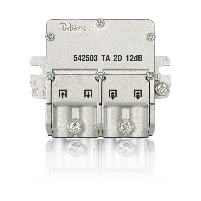 Televes Mini-Derivador 5...2400MHz 12db EasyF 2D 542503