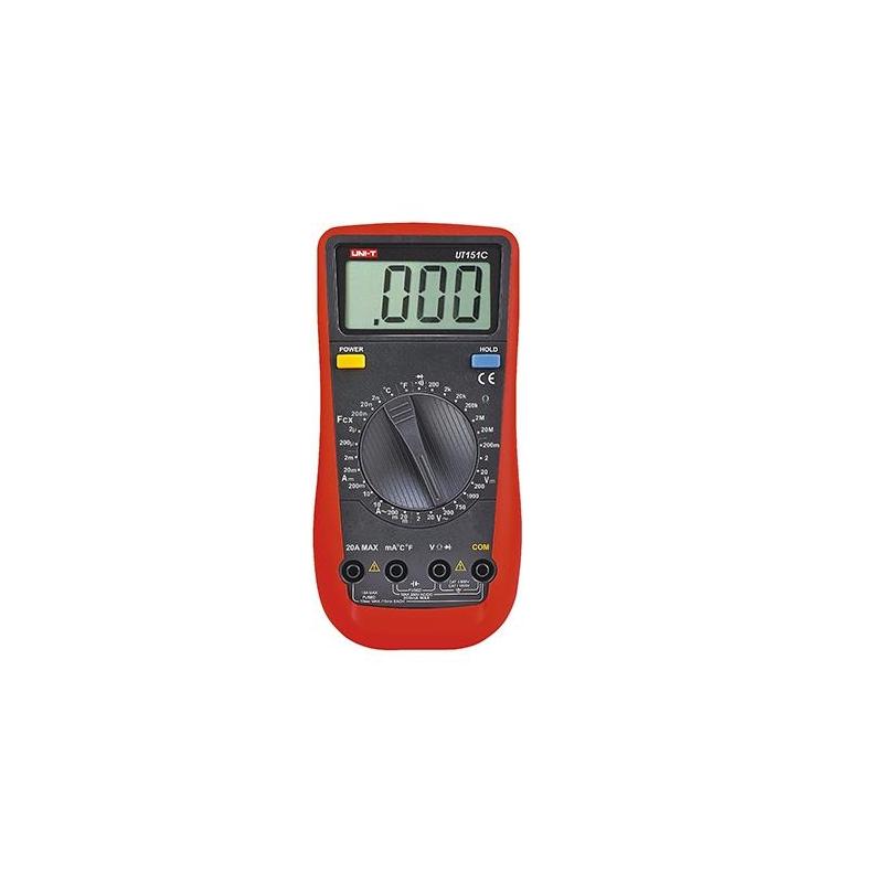 UNI-T Multimetro digital 1000VDC, 600VAC, 10ADC/AC UT151C